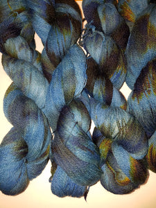 Lace Weight Alpaca Merino Yarn - Night Wood