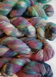 Lace Weight Alpaca Merino Yarn - Hydrangea