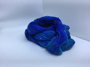 Sock Weight Superwash Merino / Donegal Nep Yarn - Kerry Blue