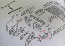 Load image into Gallery viewer, front door upper pedal 93929897 97254006 93929896 97254005 for iveco daily 4x4 4x2