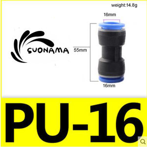 Pneumatic Straight Air Quick Fittings Pipe Joint Coupling 4/6/8/10/12/14/16mm