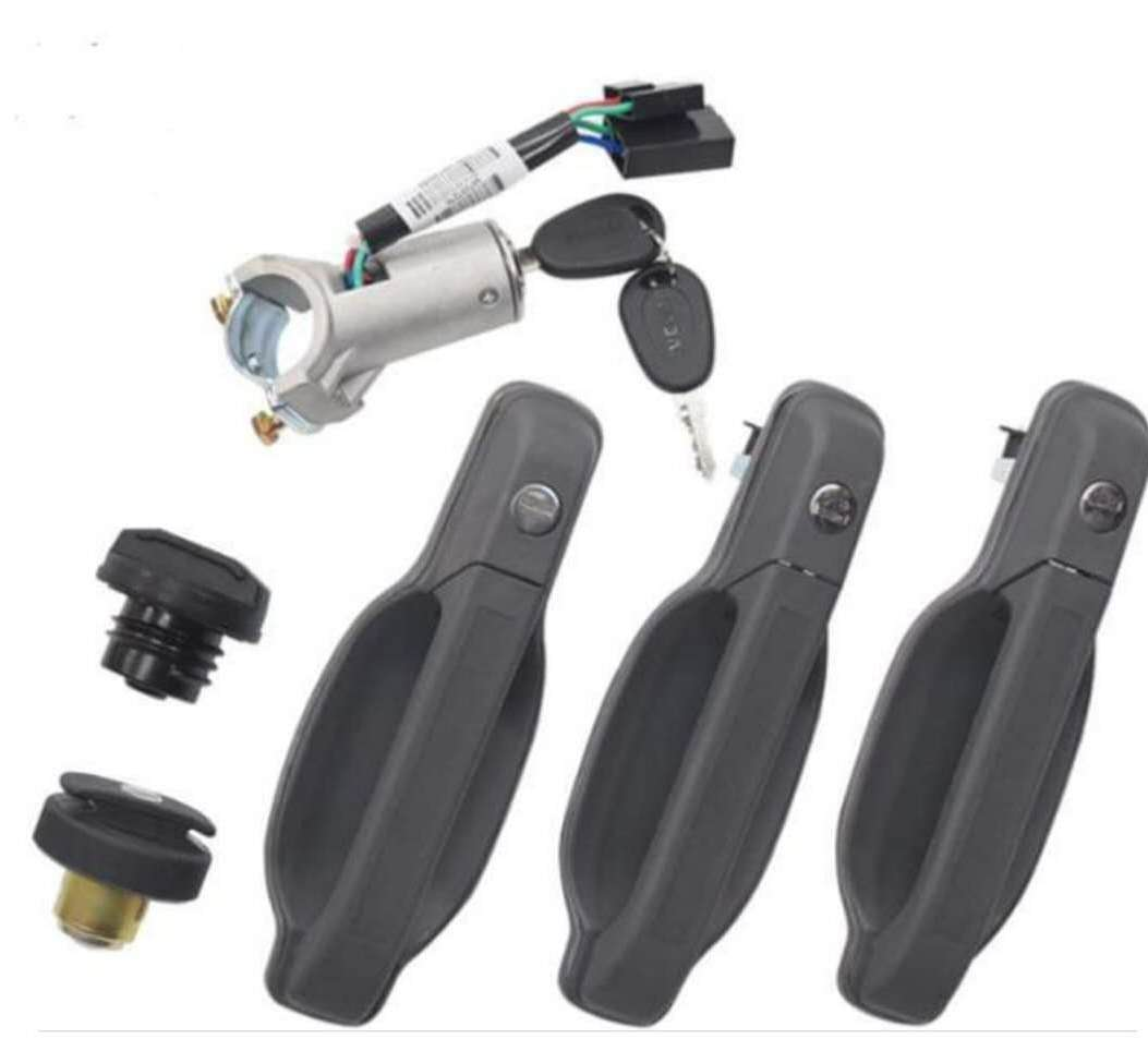door handle with ignition oil tank cover set 97355054 97355073 for iveco daily 4x4 4x2 - suonama
