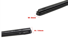 "Load image into Gallery viewer, 1pcs 8mm/6mm Car Windscreen Wiper Blade Insert Rubber Strip (Refill) Soft 24""26""28"" Accessories"