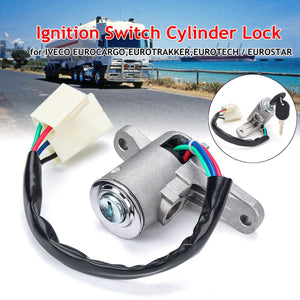 Ignition Barrel Switch Cylinder Lock W/2 Keys For Iveco Eurocargo Eurotech Eurotrakker - suonama