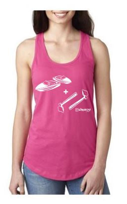 Boats + Hoes! Ladies Boating Tank - The Wakeboat Life