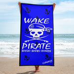 Wake Pirate Towel- Blue