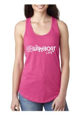The Wakeboat Life Womens Tank-White - The Wakeboat Life