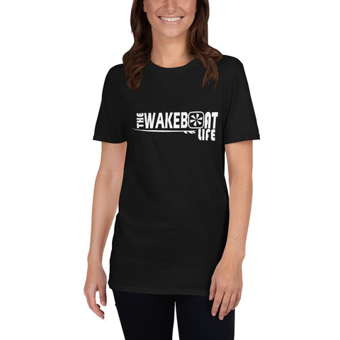 "The Wakeboat Life ""RIDE"" Wakesurf Tee- Ladies"