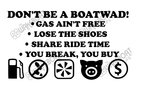 Boatwad! Boat Rules Decal