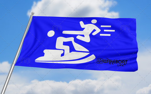 Kung-fu YOU! Jetski Flag: Blue