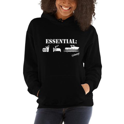 Boating is Essential Ladies Hoodie