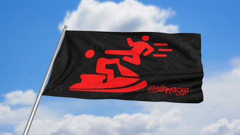 Kung-fu YOU! Jetski Flag: Red
