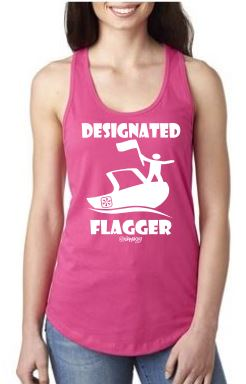 Womens Designated Flagger™ Wakesurf Tank Top - The Wakeboat Life
