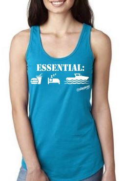 NEW- Boating Is Essential Ladies Tank