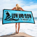 Low and Slow Wakesurf Towel- Blue