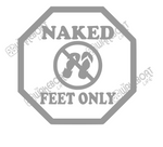 Naked Feet Only Decal