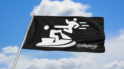 Kung-fu YOU! Jetski Flag: White