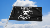 Wake Pirate Flag: Black