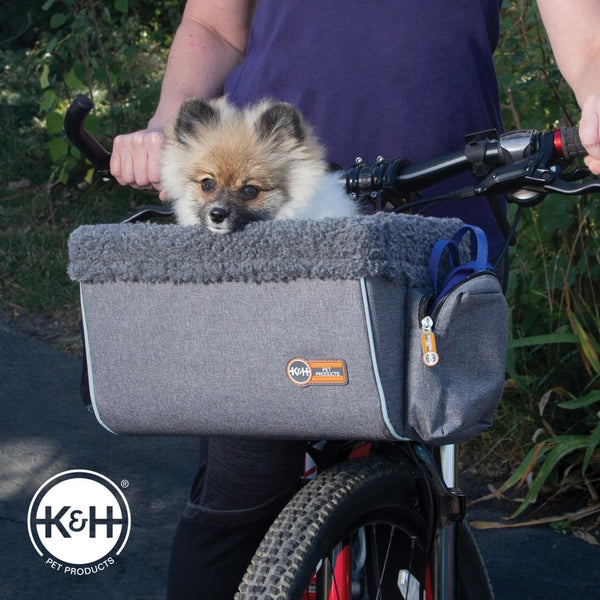 Going for a bike ride with your dog can be a lot of fun.