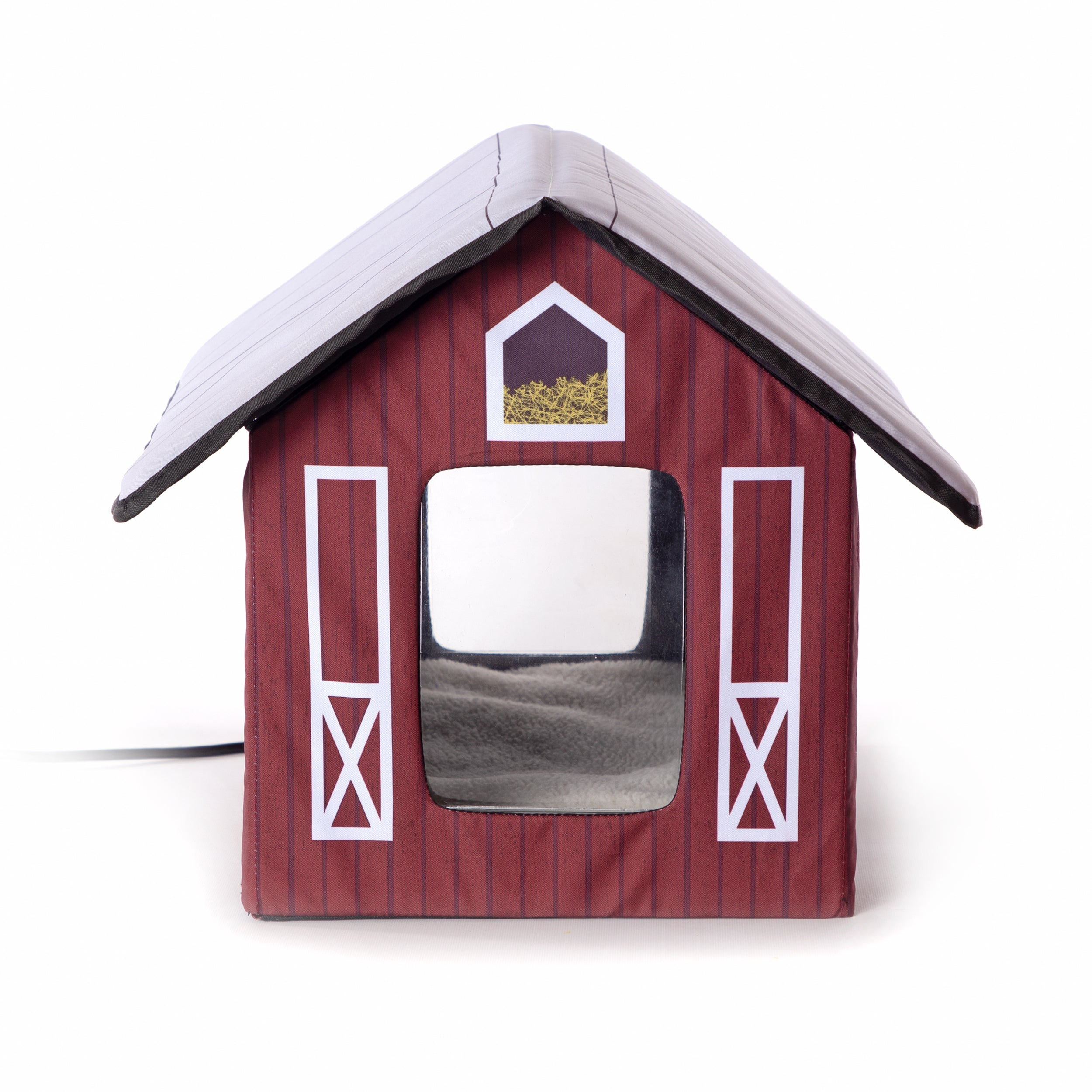 Outdoor Kitty House - Barn Design - Front