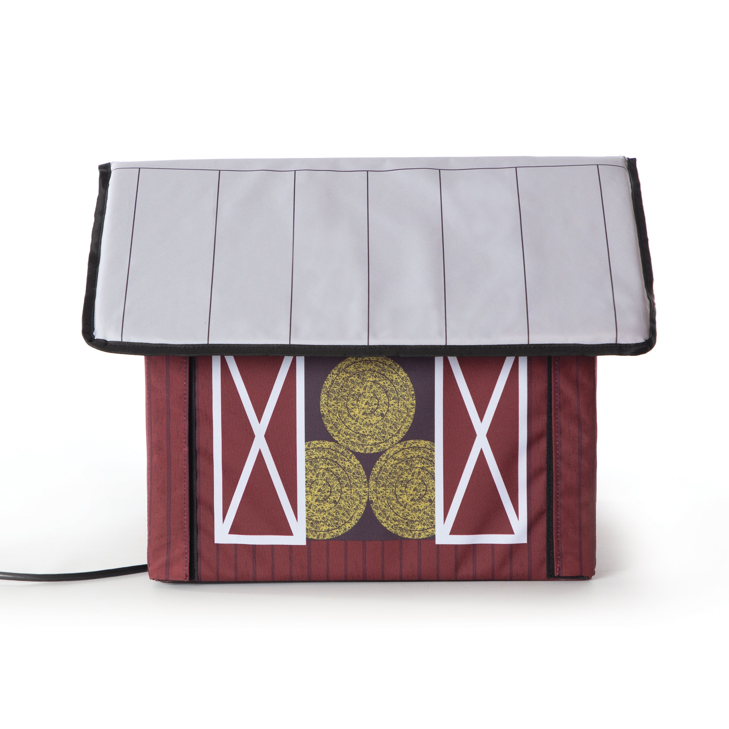 Outdoor Kitty House - Barn Design - Side 1
