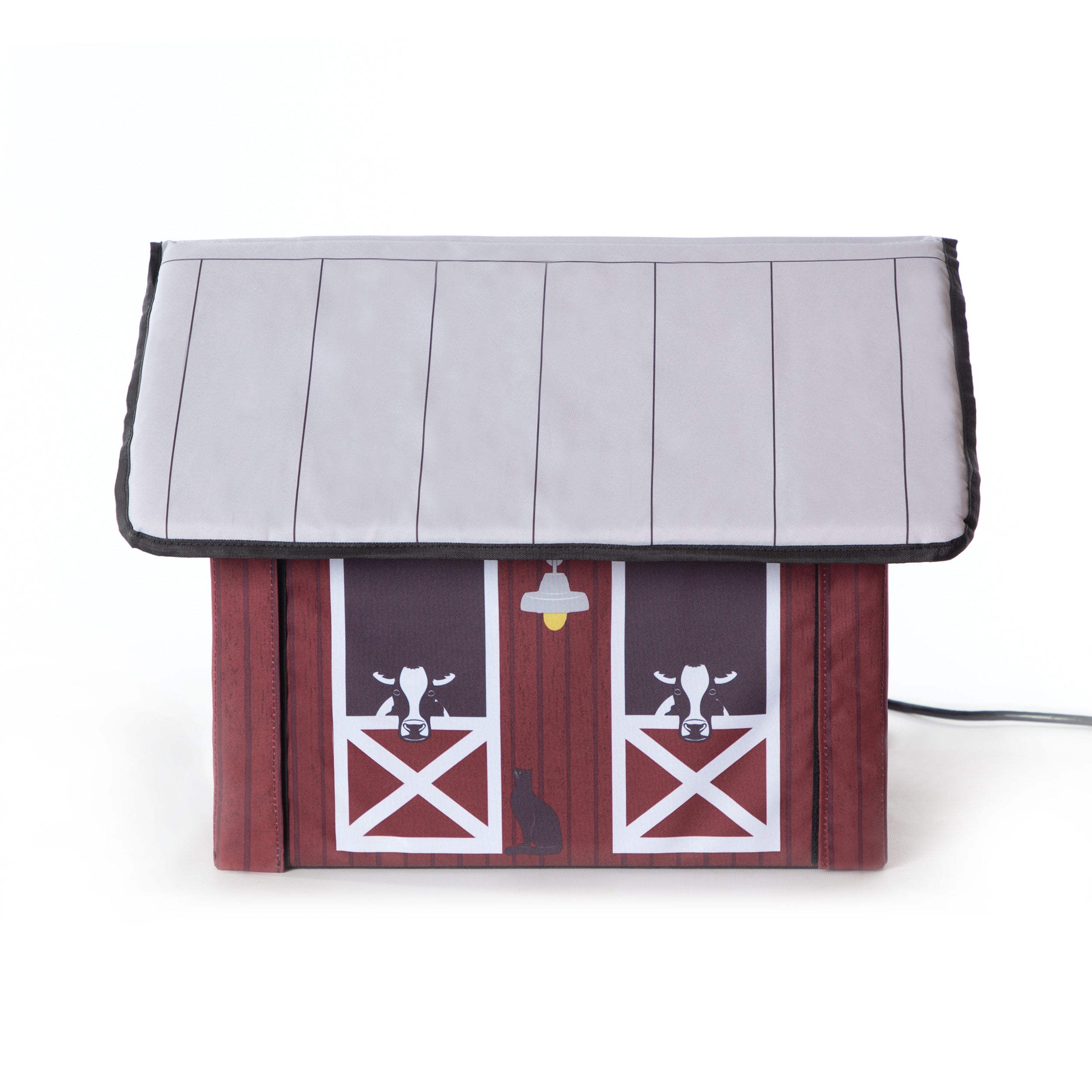 Outdoor Kitty House - Barn Design - Side 2