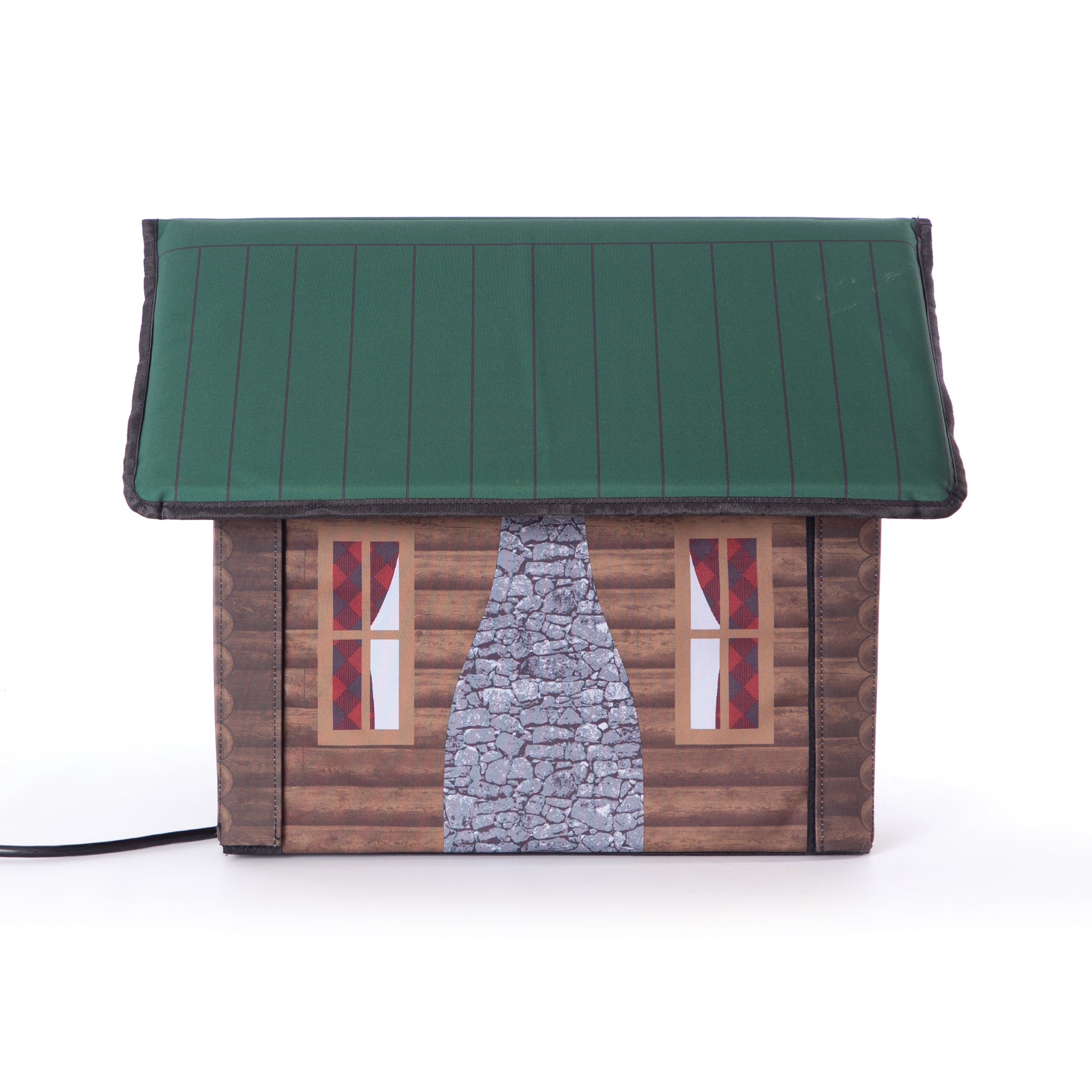 Outdoor Kitty House - Cabin Design - Side 1