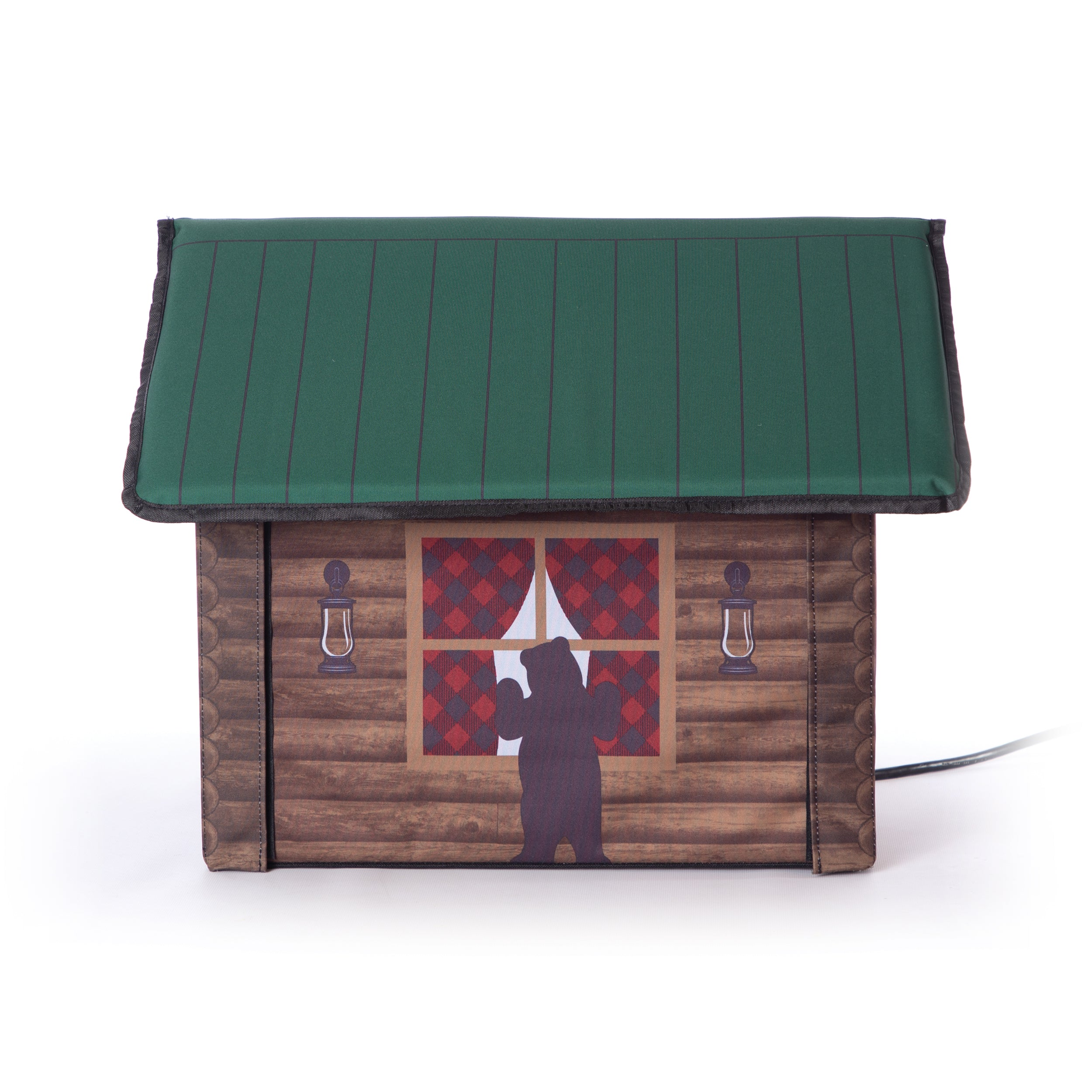 Outdoor Kitty House - Cabin Design - Side 2