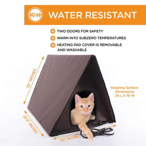 Outdoor Multi-Kitty A-Frame - Water Resistant