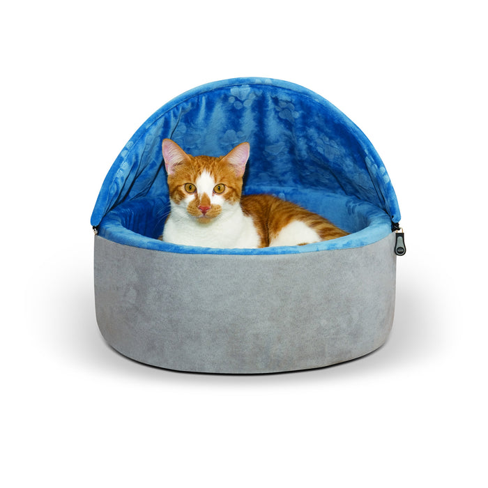 Kitty Bed Hooded Gray Blue1