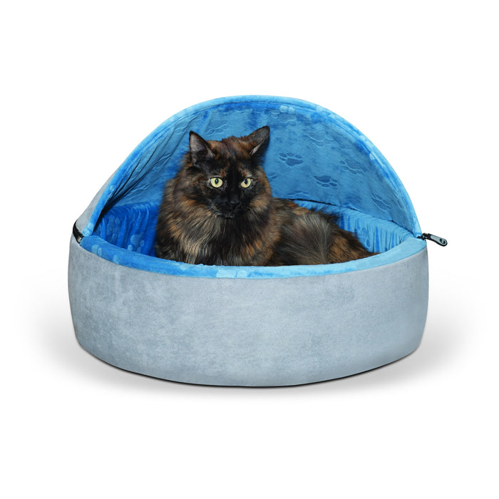 Kitty Bed Hooded Gray Blue2