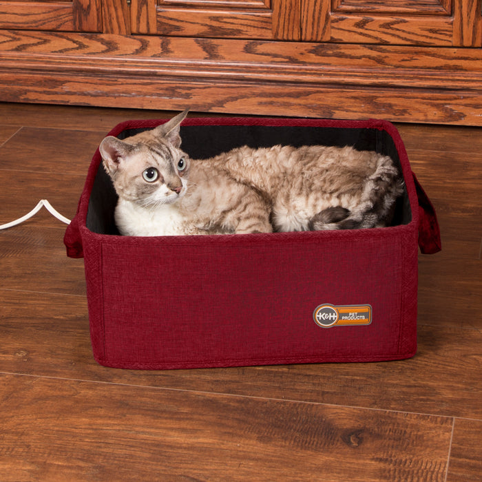 K&H Thermo-Basket Pet Bed - Red, Cat