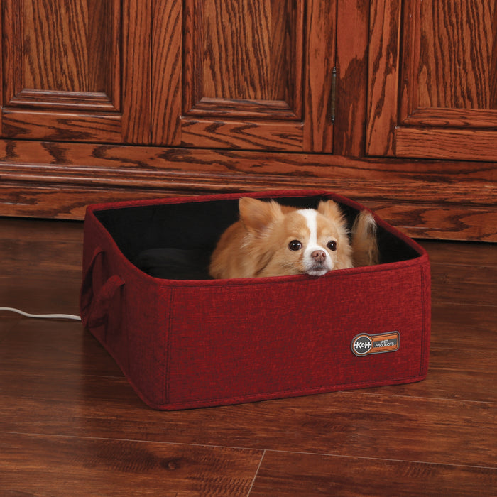 K&H Thermo-Basket Pet Bed - Red, Dog