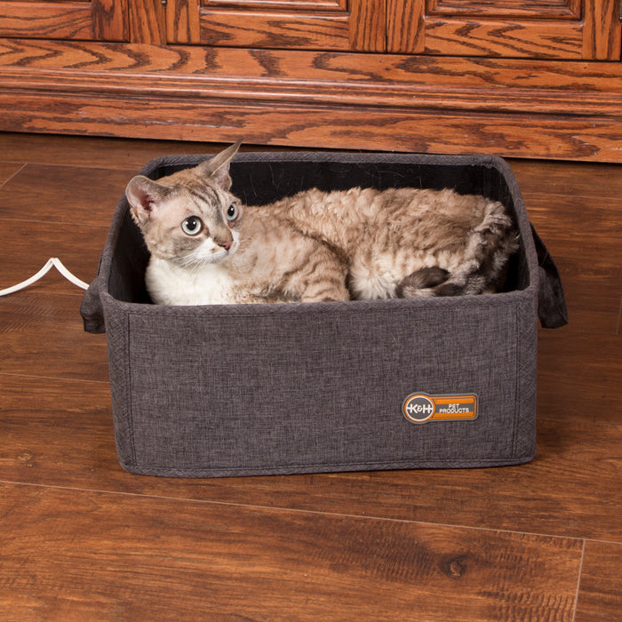 K&H Thermo-Basket Pet Bed - Gray, Cat