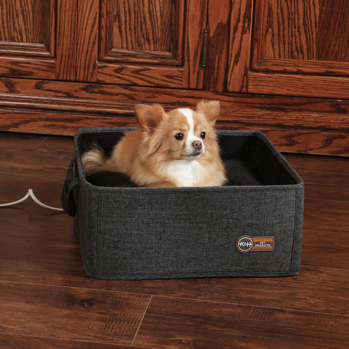 K&H Thermo-Basket Pet Bed - Gray, Dog