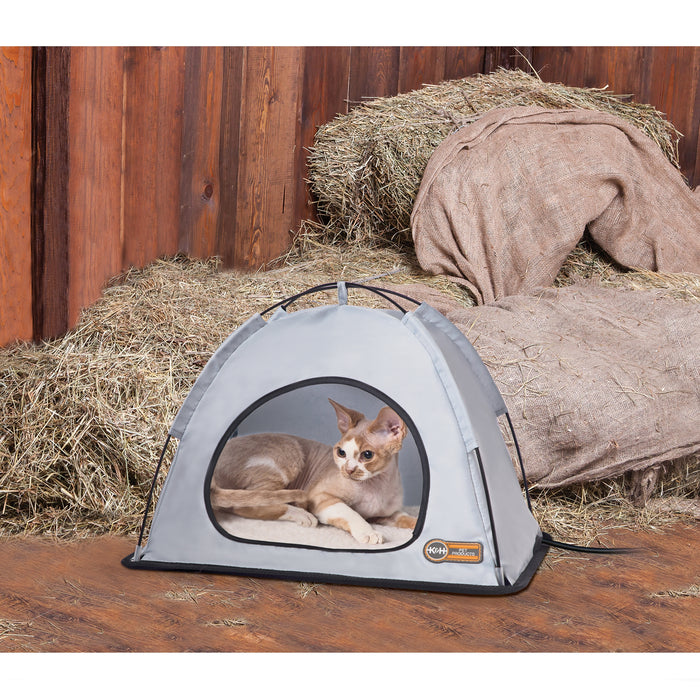 K&H Thermo Tent - Small, Gray, Cat