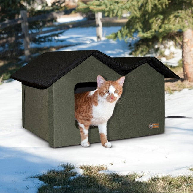 Outdoor Kitty House Extra-Wide (Heated)