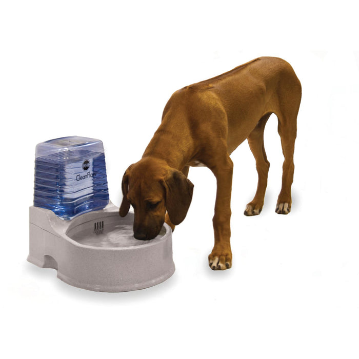 CleanFlow Water Filter Dog Bowl With Reservoir Large
