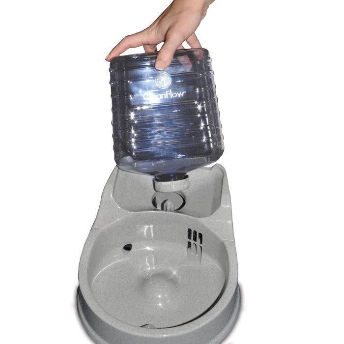 CleanFlow Water Filter Dog Bowl With Reservoir Install