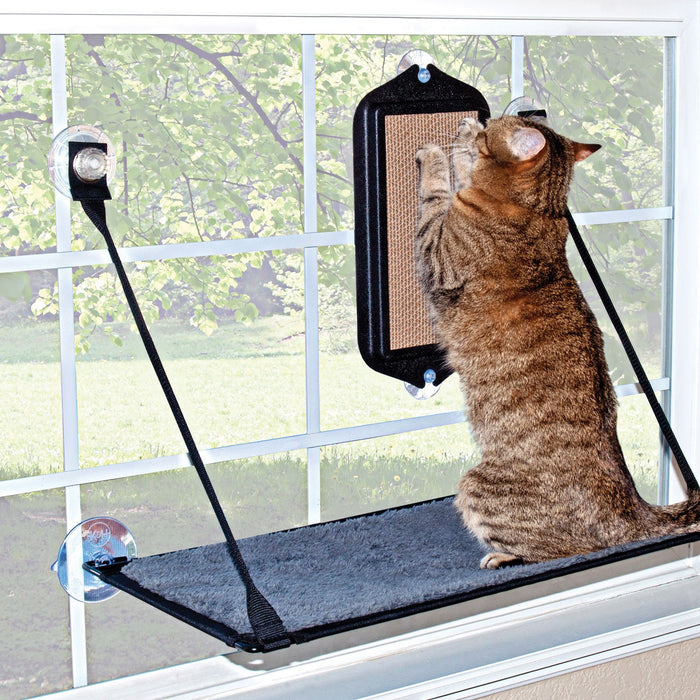 K&H EZ Mount Scratcher With Kitty Sill