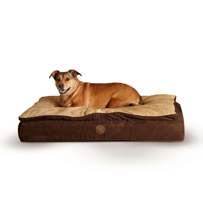 K&H Feather-Top Ortho Bed Chocolate/Tan