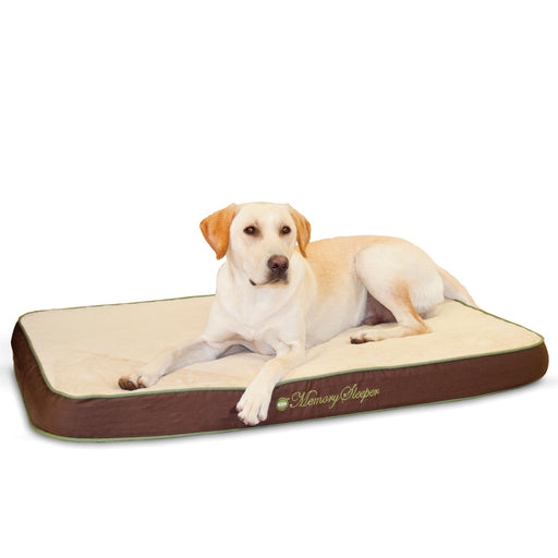 Memory Sleeper Memory Foam Dog Bed Mocha
