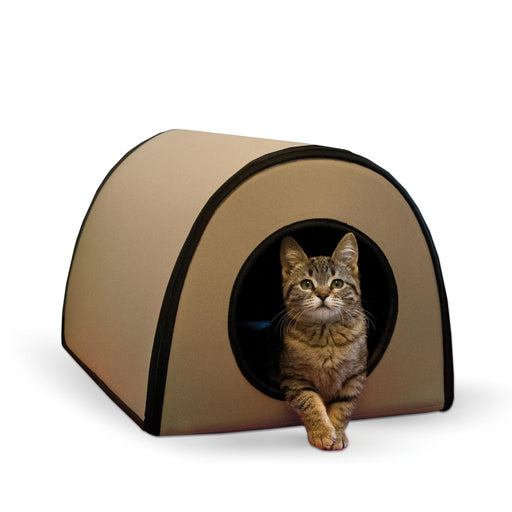 K&H Mod Thermo-Kitty Shelter Tan