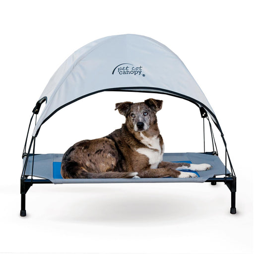 Pet Cot Canopy Gray