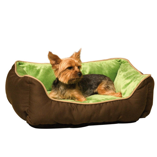 K&H Self-Warming Lounge Sleeper - Mocha/Green