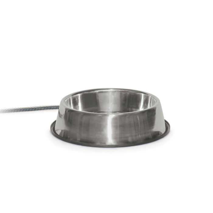 Thermal-Bowl Dog Heater Water Bowl Stainless Steel