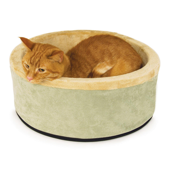 Thermo-Kitty Heated Cat Bed Sage
