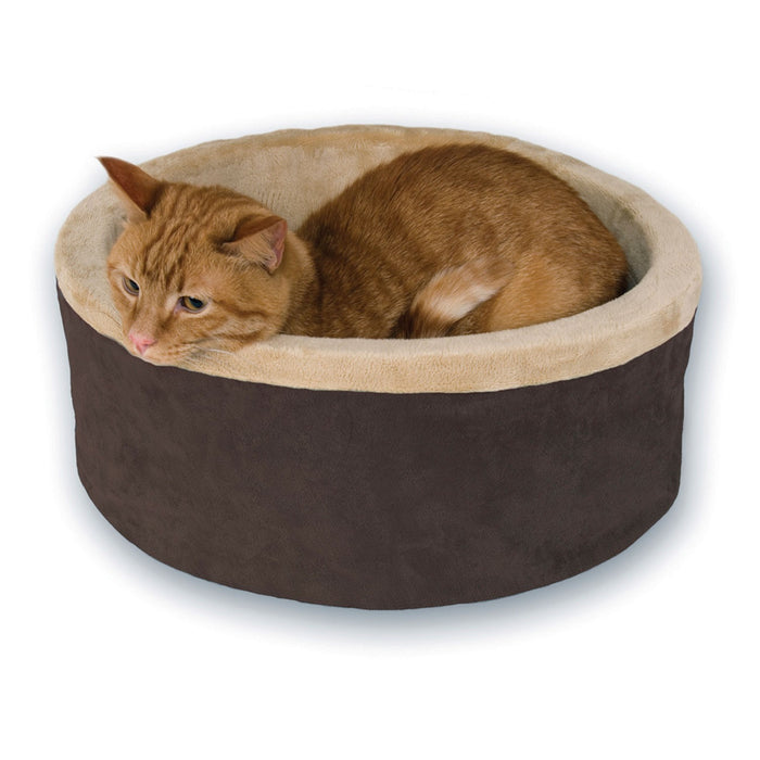 Thermo-Kitty Heated Cat Bed Mocha
