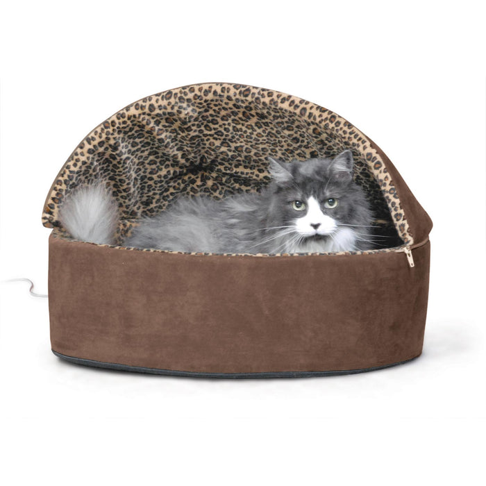 Thermo-Kitty Bed Deluxe Hooded Mocha