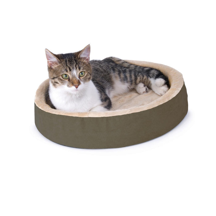 Thermo-Kitty Cuddle Up Heated Cat Bed Mocha